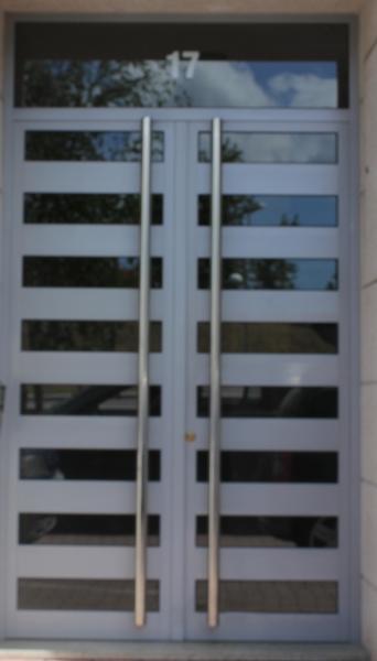Portal gris 2 hojas